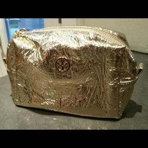 *NEW* Tory Burch gold cosmetic bag